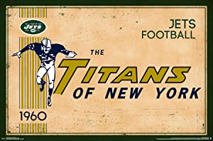 "Trends International New York Jets Retro Logo Wall Poster 22.375"" x 34"""