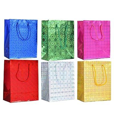 S & E TEACHER'S EDITION Holographic Party Favor Bags 30Pcs, 3D Metallic, Laser Radium Gift Bags, Party Décor: Toys & Games