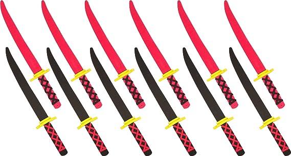 Foam Ninja Swords Set of 12 - Safe Fun - by Trademark Innovations