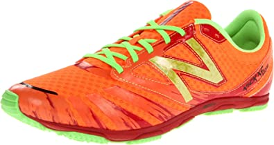 New Balance Men\u0027s MXC700 Rubber Spike Running Shoe,Orange/Green,8 2E US