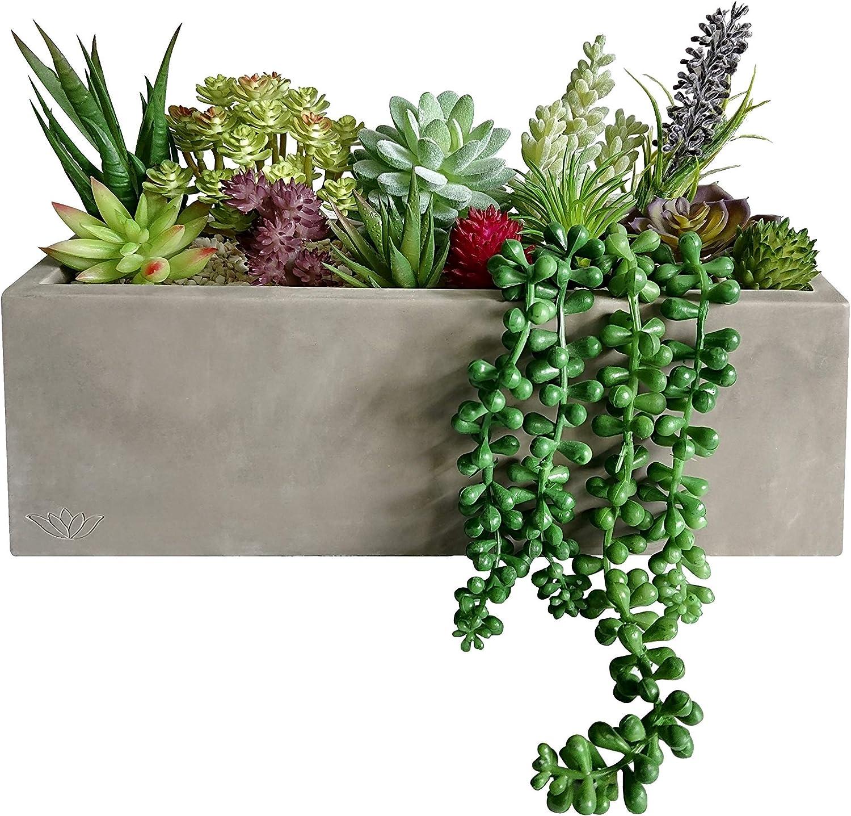 Artificial Succulents Fake Plants Garden Home Office Decoration Mixed 12pcs//set