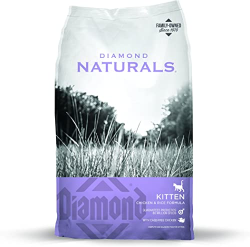 Diamond Naturals Kitten Real Meat Recipe Natural Dry Cat Food With Real Cage Free Chicken 6Lb