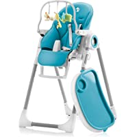 Adjustable, Folding, Baby High Chair Blue - High Chairs for Babies and Toddlers - 7 Different Heights and Adjustable…