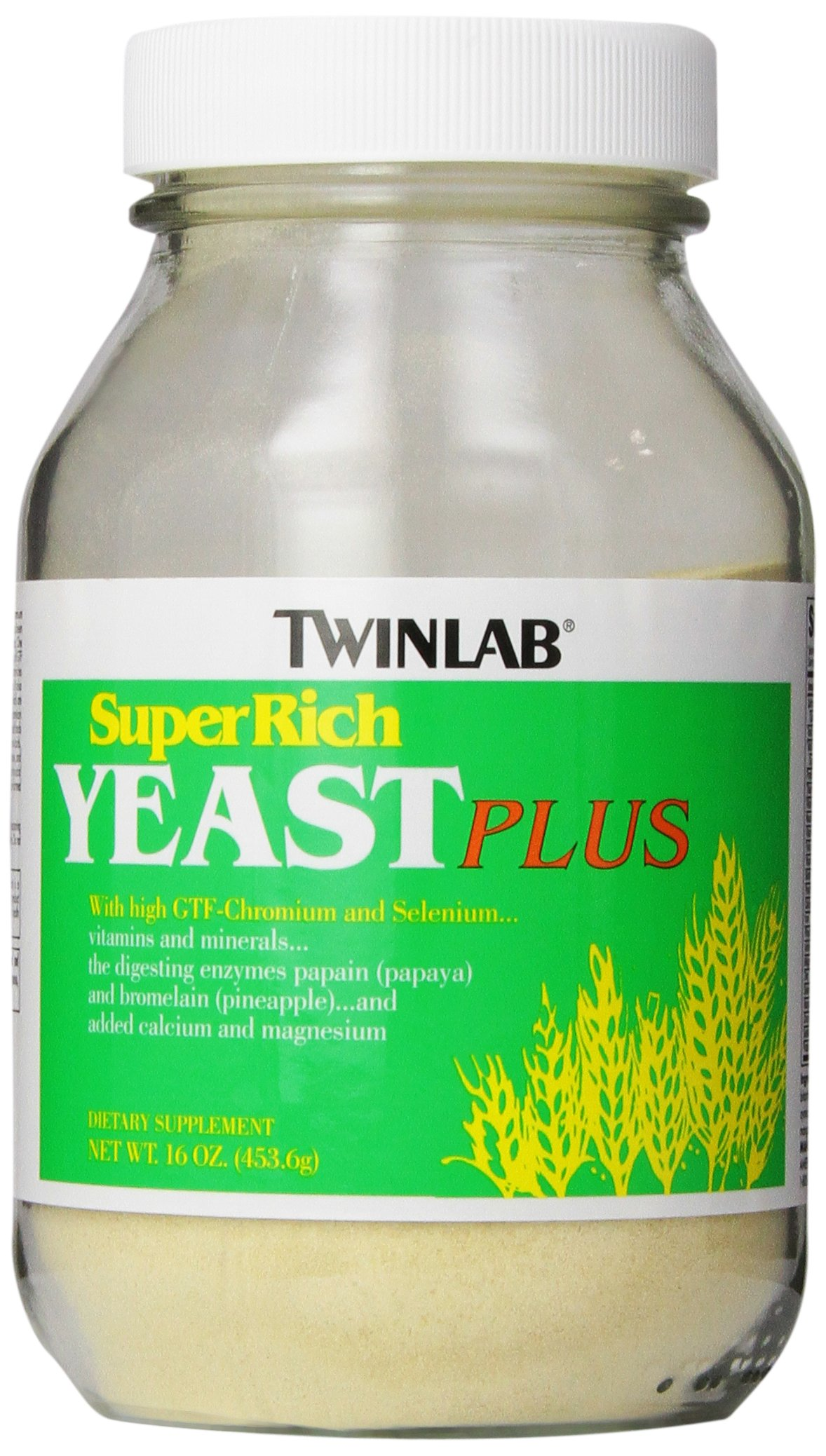 Twinlab Super Rich Yeast Plus, 16 Ounces (Pack of 2)