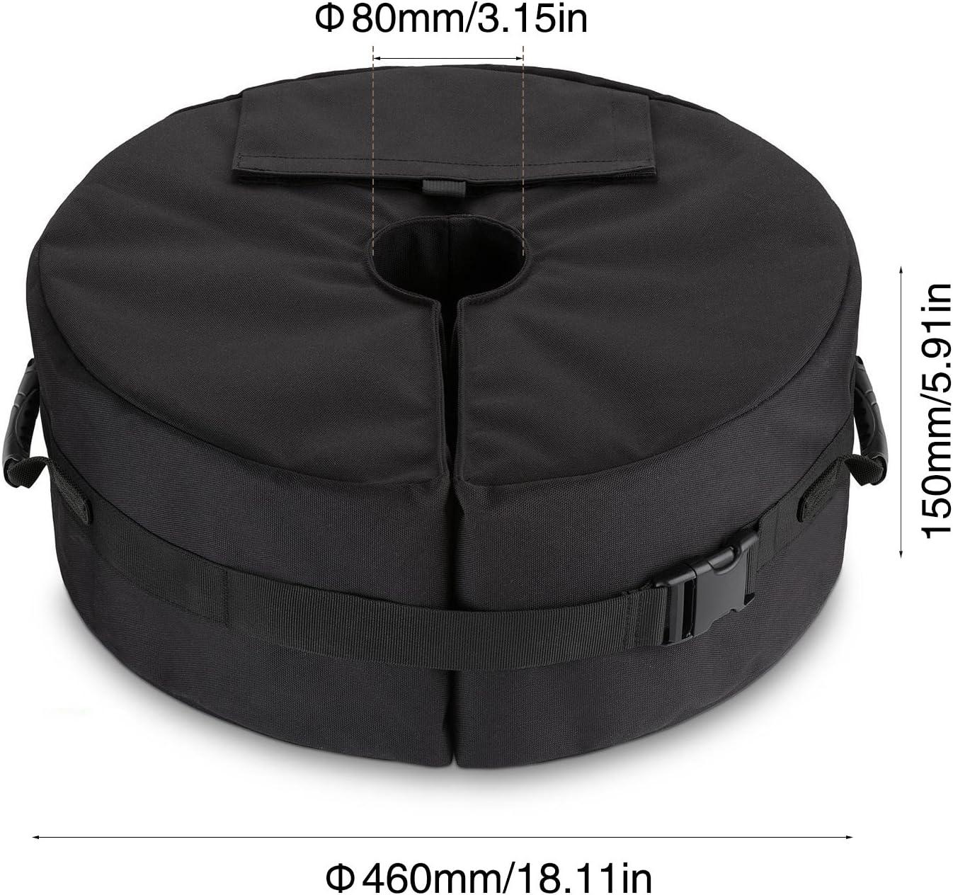 Sammiu Bolsa de peso para sombrilla resistente a la intemperie y a los rayos UV