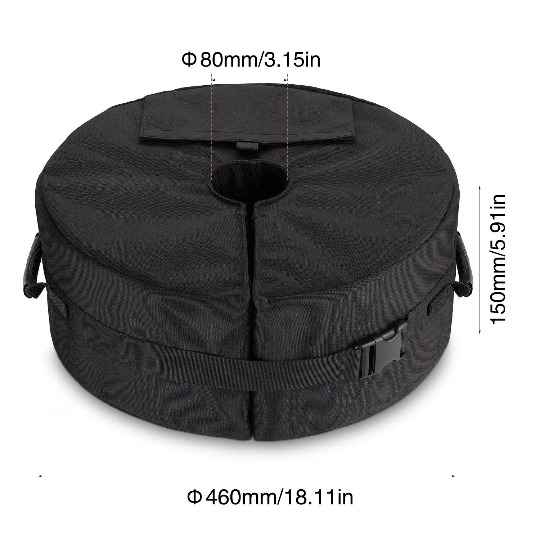 Zeltbodengewicht Tasche f/ür Canopy Sand Ergonomischer St/änder Hinzuf/ügen von Gewicht f/ür Alle Outdoor-Sonnenschirme Oder Fahnenmasten Patio Beach Runder Regenschirm Base Weight Bag