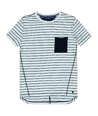 3e61ca494 Marc O  Polo Kids Boy s T-shirt 1 4 Arm Relaxed Crew Neck Short Sleeve T- Shirt - white - 7 Years  Amazon.co.uk  Clothing