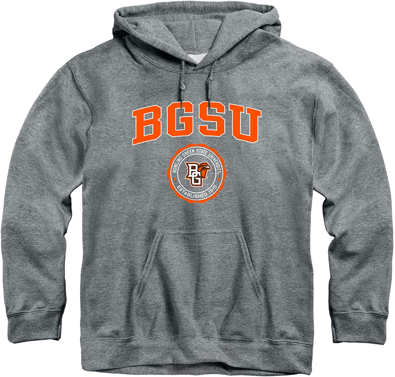 Ivysport Hooded Sweatshirt, Cotton/Poly Blend, Heritage Logo Grey, NCAA Colleges and Universities