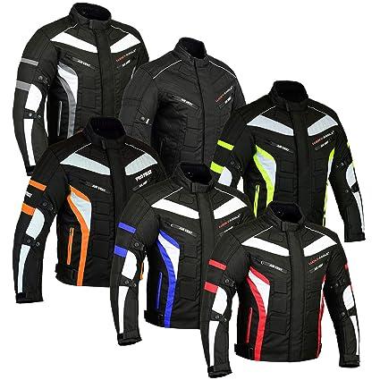 Chaqueta de moto Chaqueta de armadura impermeable Ropa de moto scooter en tela Cordura para hombre - XL Azul