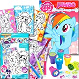 My Little Pony Coloring Book with Take-N-Play Set, 96-page Coloring Book, My Little Pony Stickers, Markers and Stampers