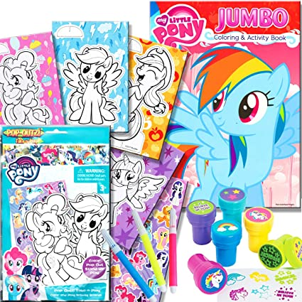 My Little Pony Coloring Book With Take N Play Set 96 Page Coloring
