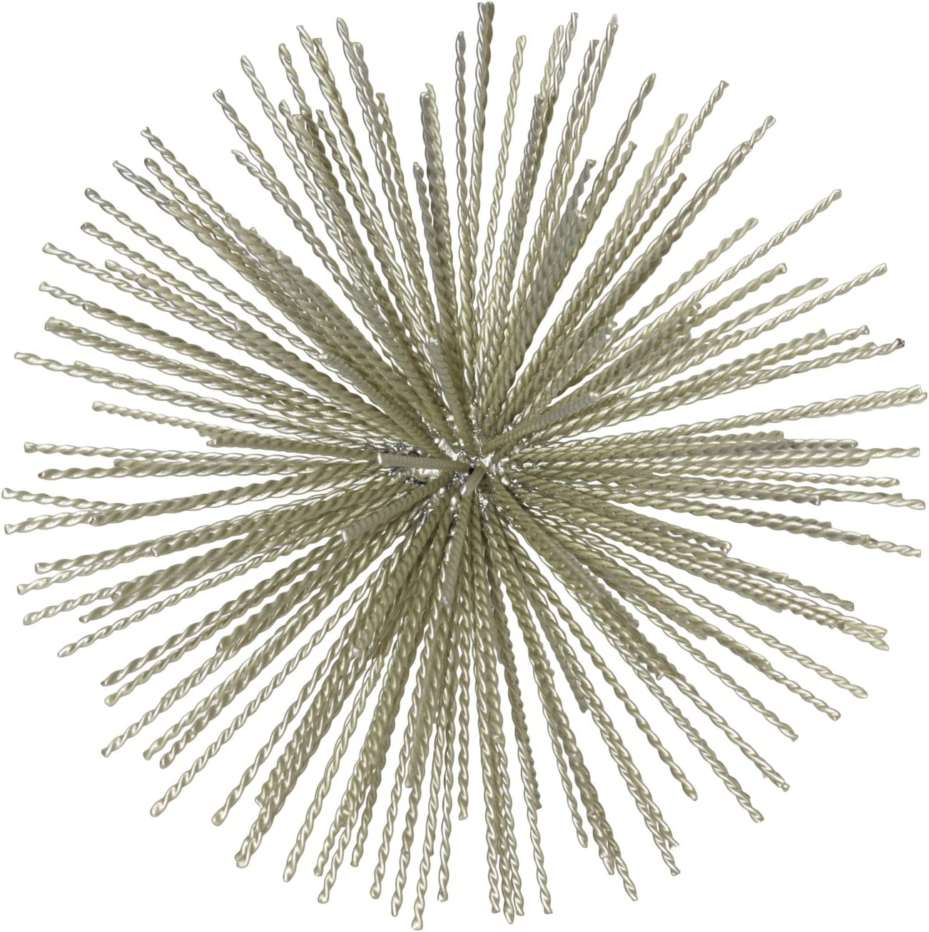 Urban Trends 21945 Metal Sea Urchin Ornamental Sculpture Champagne 141[並行輸入]