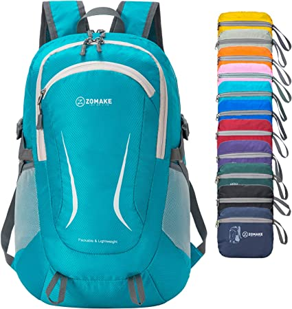ZOMAKE Lightweight Packable Backpack, Water Resistant Rucksack Foldable  Travel Daysack for Men Women Outdoor (Light blue): Amazon.co.uk: Sports &  Outdoors