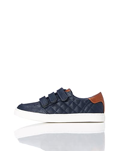 RED WAGON Jungen Budapester-Schuhe mit glattem Leder, Blau (Blue), 28 EU