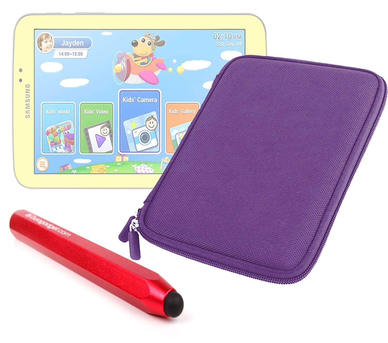 DURAGADGET Tough水&傷付きパープルEva Zip Case B00FQGQTB2 +レッドTouchscreen Stylusペンfor Samsung Galaxy Galaxy Tab Tab 3 Kids B00FQGQTB2, ビビット通販:3e1aa906 --- capela.eng.br
