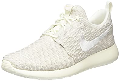 nike rosh one flyknit white