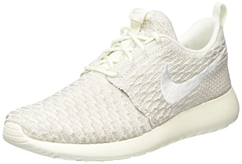 huge discount 4c1aa 3f9df Nike Roshe One Flyknit, Women s Sneakers, Grey (Sail White-String)