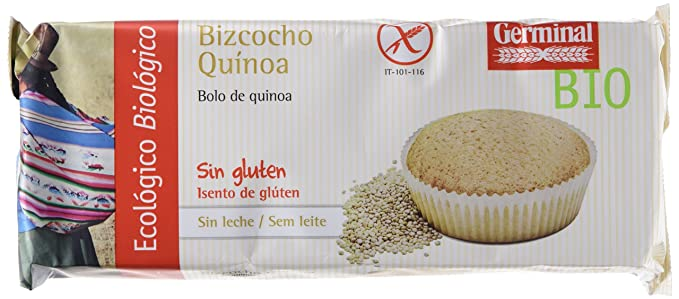 Germinal Bizcocho Sin Gluten - Paquete de 12 x 180 gr - Total: 2160 gr
