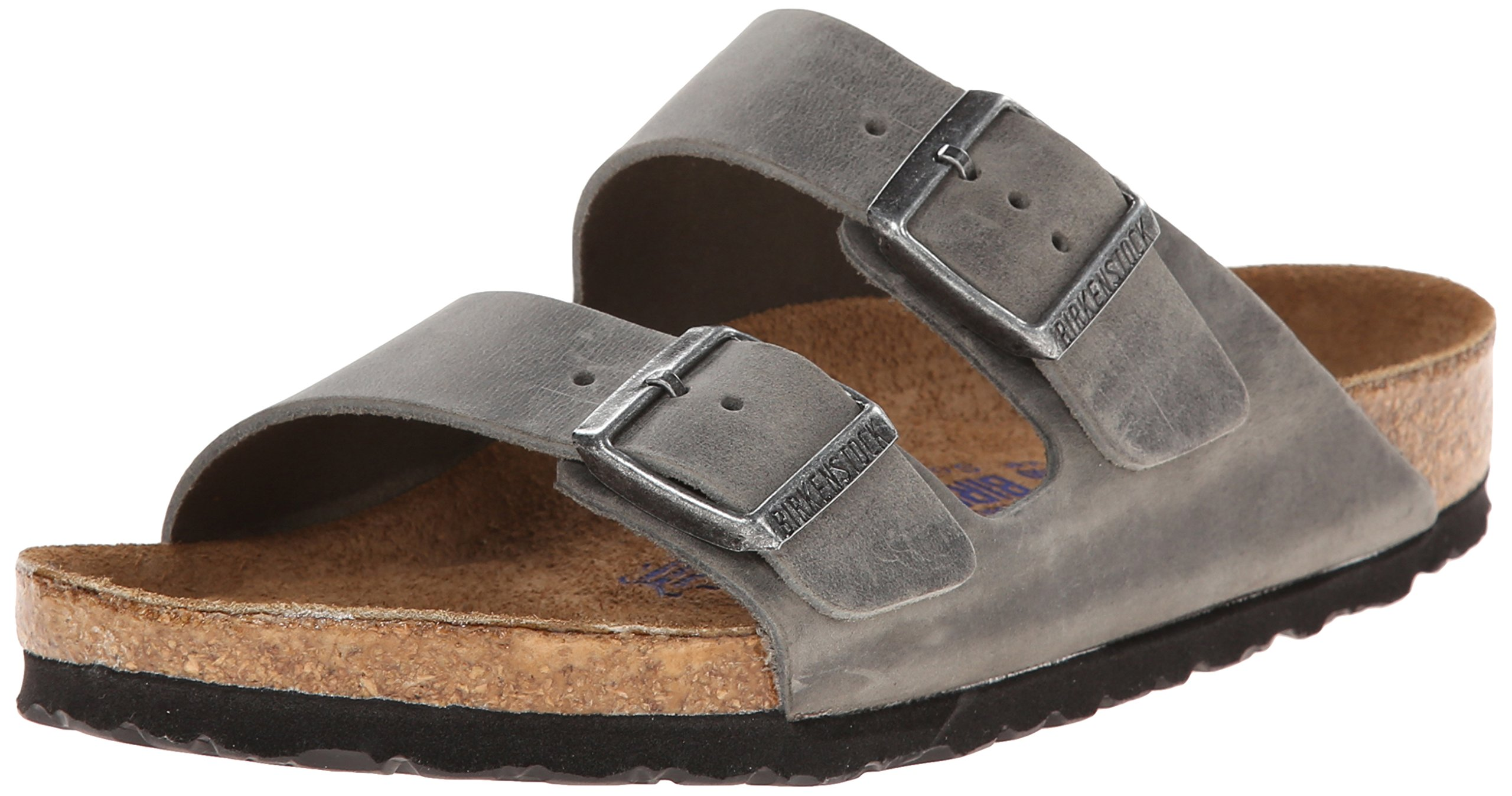 Birkenstock Unisex Arizona Iron Oiled Leather Sandals - 45 M EU/12-12.5 B(M) US Men
