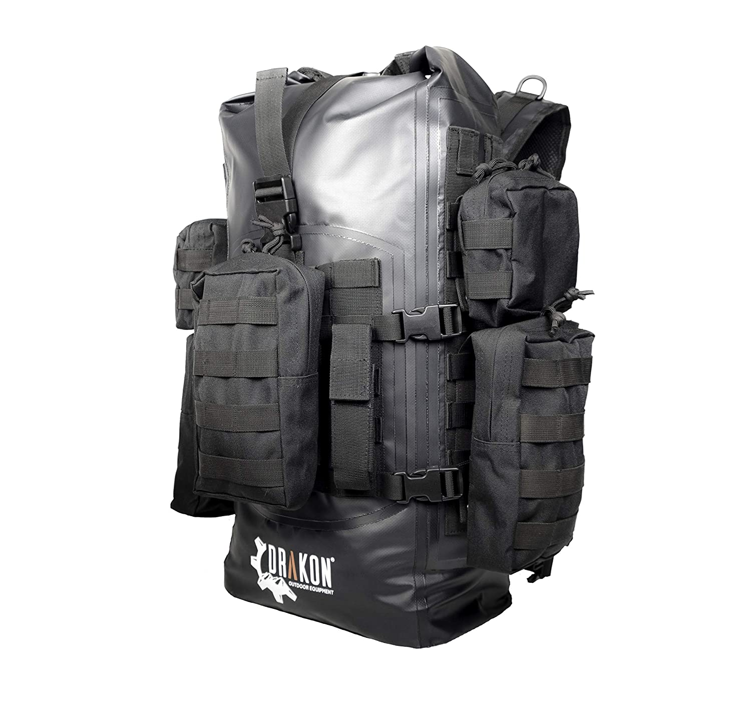 25a4e51f0ddd Drakon Outdoors 40L Waterproof Dry Bag Survival Backpack - Roll Top Go-Bag  Perfect for Hunting