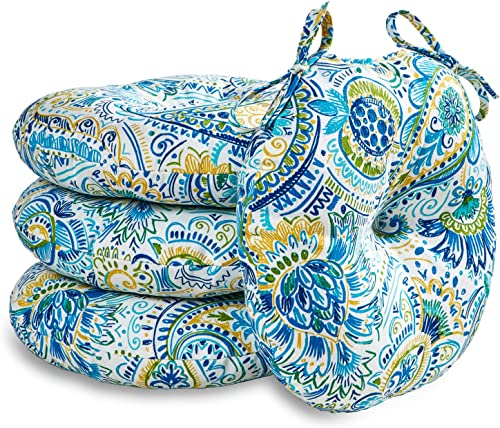 Editors' Choice: South Pine Porch AM6816S4-BALTIC Baltic Paisley 15-inch Round Outdoor Bistro Chair Cushion