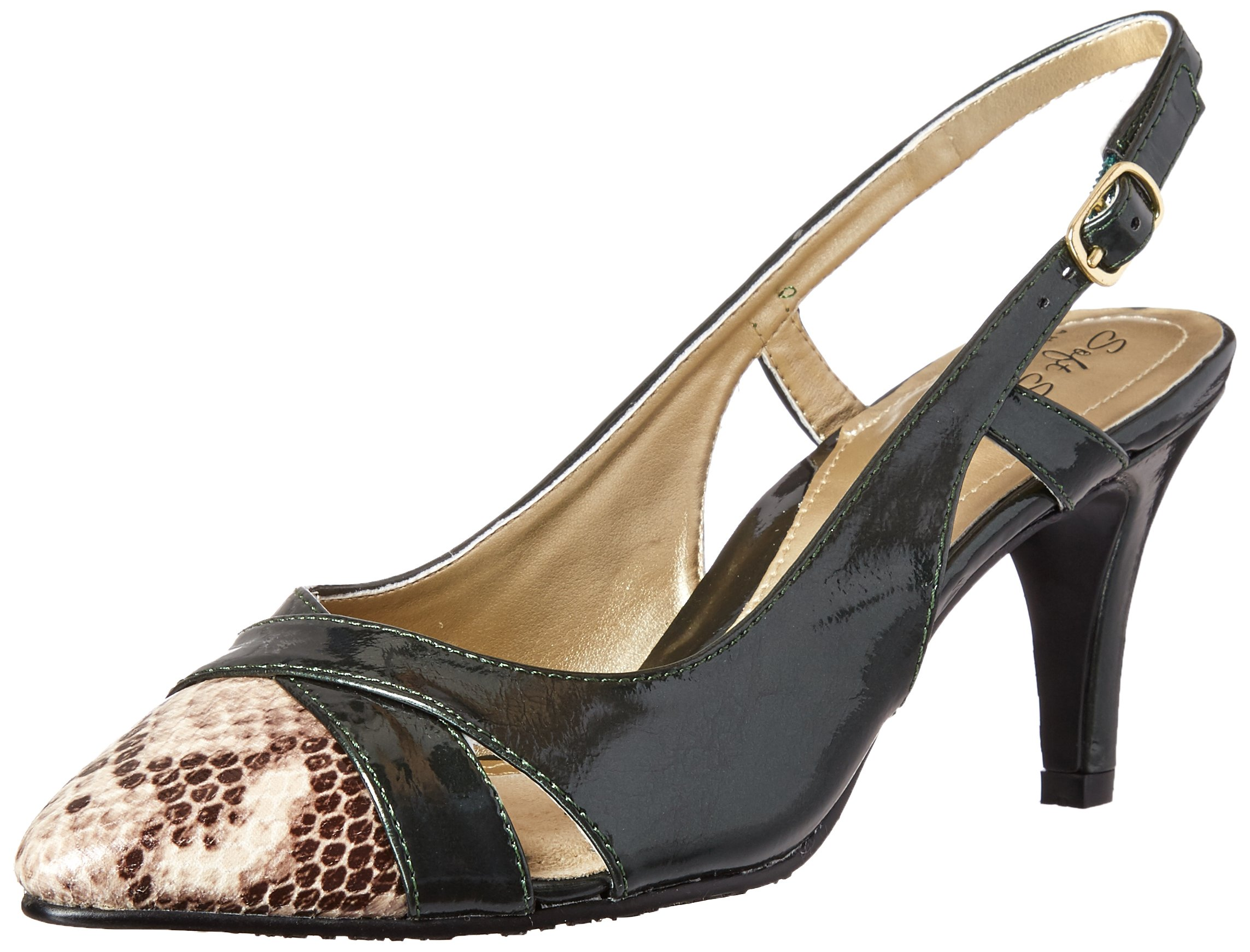 Soft Style by Hush Puppies Women's Rielle Dress Pump, Rosin Pearlized Patent/Python, 8 M US