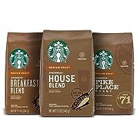 Starbucks Medium Roast Ground Coffee — Variety Pack — 100% Arabica — 3 bags (12...