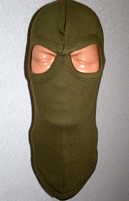 American Made Olive Drab OD 2 Hole Swat Balaclava Hood Full Face Ski Ninja Mask Premium Quality Thick-ness Unique Army Soldier Paintball Airsoft ...