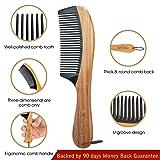 "Hair Comb - 8.6"" No Static Detangling Comb by"