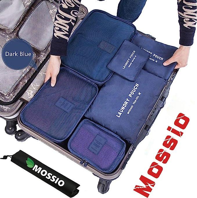 Amazon.com: Mossio Set de 7 cubos de embalaje con bolsa para ...
