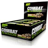 MusclePharm Combat Crunch Protein Bar, Multi-Layered Baked Bar, 20g Protein, Low Sugar, Low Carb, Gluten Free, S'Mores, 12 Bars