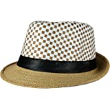 FabSeasons Polyester Casual Fedora Hat (Brown, 58 cm)