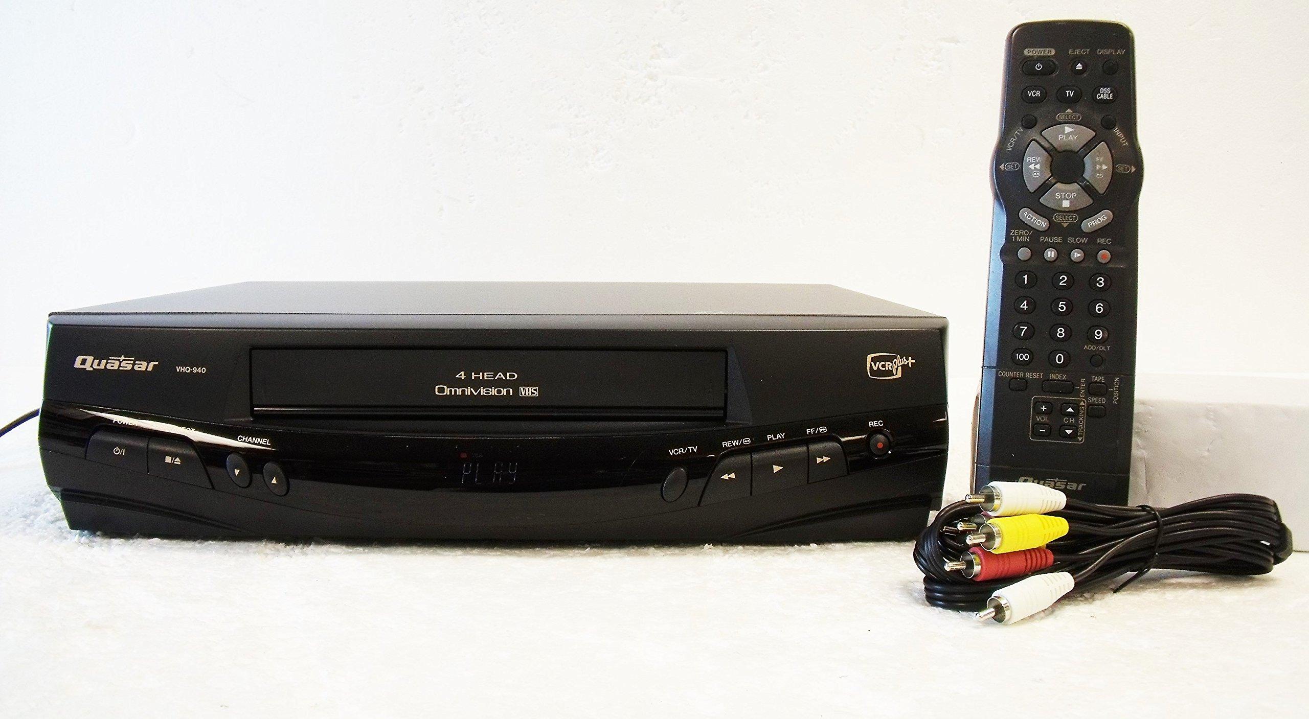 Quasar VHQ-940 Video Cassette Recorder Player VCR 4 Head Omnivision VHS