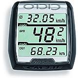 Ciclosport Drahtgebundener Fahrradtacho ohne Tasten Cm 2.11, Schwarz, 10104000