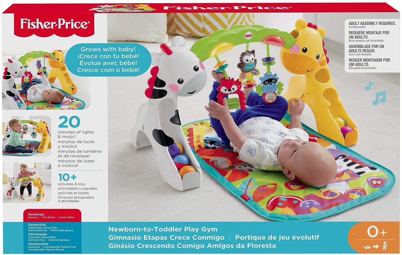 Fisher-Price Gimnasio deluxe animalitos de la selva manta de juego beb/é Mattel DFP08