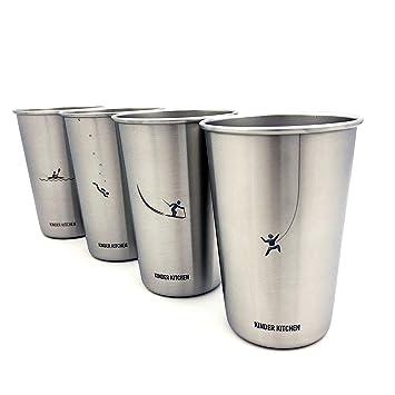 Conjunto de vasos de acero inoxidable