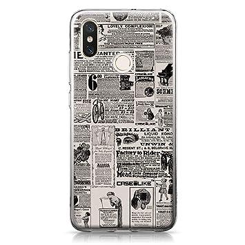 CASEiLIKE® Funda Mi 8, Carcasa Xiaomi Mi 8, Periódico Vintage Publicidad 4818, TPU Gel Silicone Protectora Cover