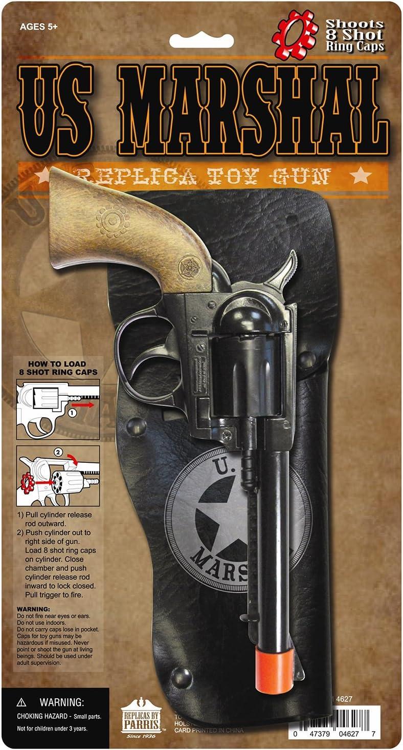 Fake Metal Revolver Costume Accessory Cap Gun Cowboy Prop NOISE MAKING Bang NEW