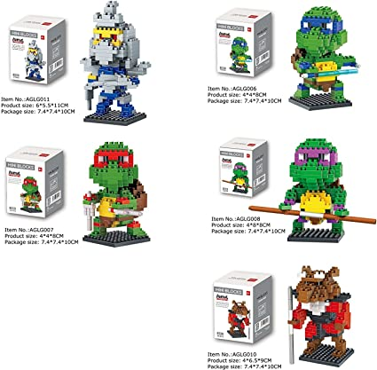Amazon.com: Juego de 5 – Dr. Star Mini Block – Tortugas ...