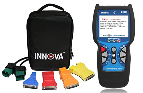 The Innova 3120 is an OBDI scan tool that is capable of diagnosing and re-programming the vehicle's computer