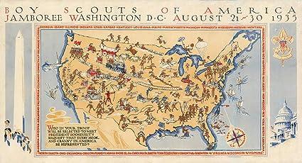 Amazon.com: Historic Map | Boy Scouts of America Jamboree ...