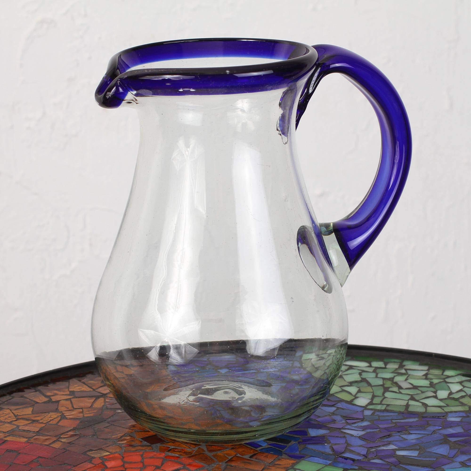 NOVICA 161655'' Blue Grace Glass Pitcher by NOVICA (Image #3)