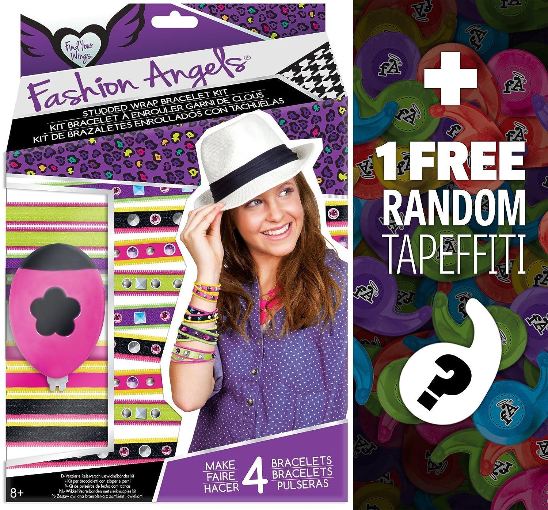Fashion Angels FA//9118486 1 FREE Mini-Tapeffiti Bundle Studded Wrap Bracelet Craft Kit 118493