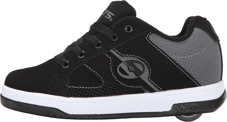 4 Medium US Big Kid Black//White Heelys Boys Split Sneaker