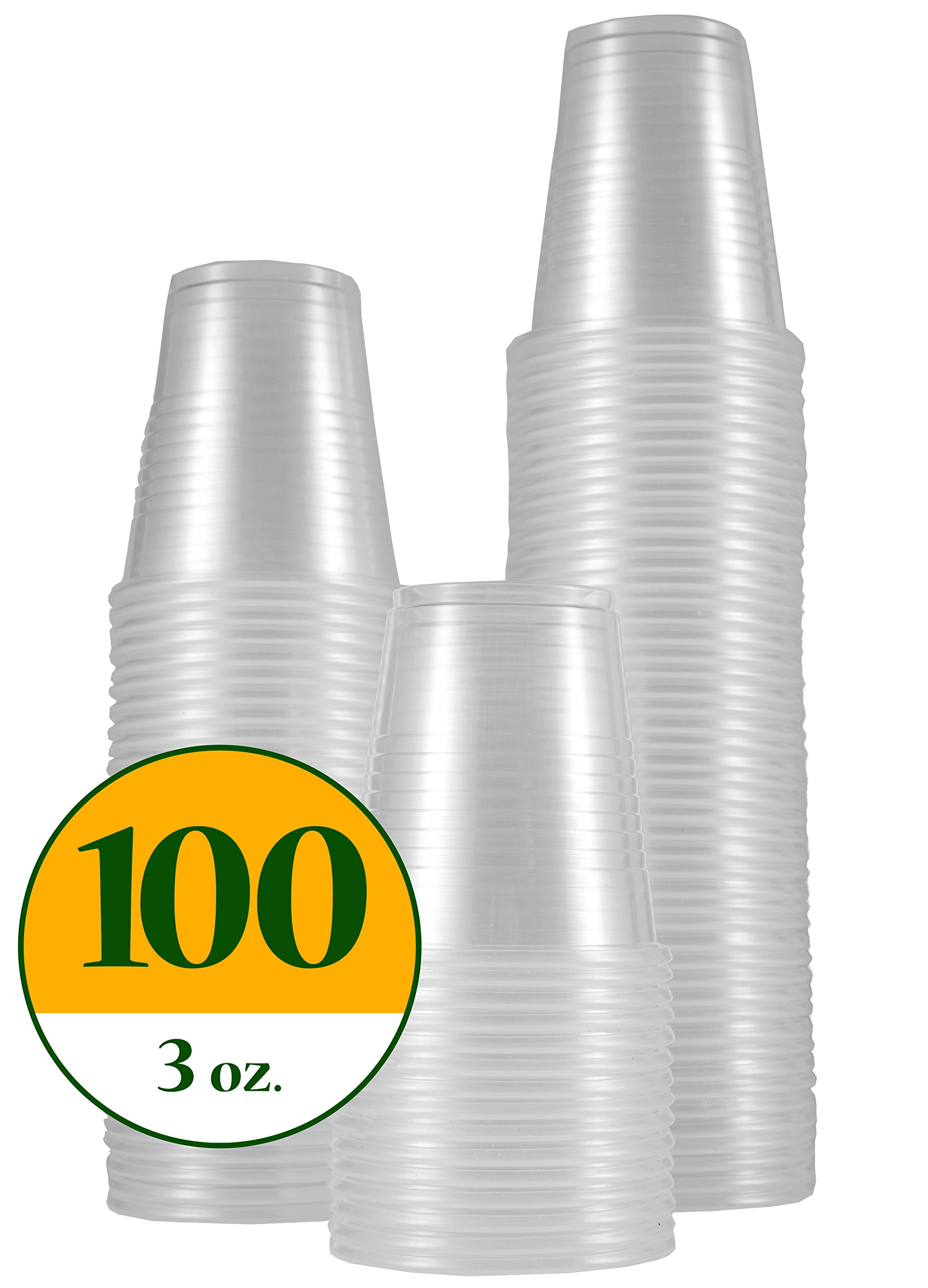 DisposoWare 3 oz. Disposable Plastic Cups 100 count