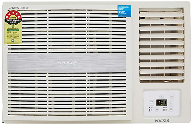 Voltas 1 5 Ton 5 Star Window AC (Copper, 185 LZH/185 LZH R32, White)