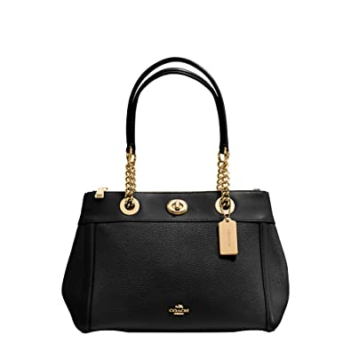 dc4903df57 ... coupon code for coach womens polished pebble turnlock edie carryall li  black one size handbags amazon
