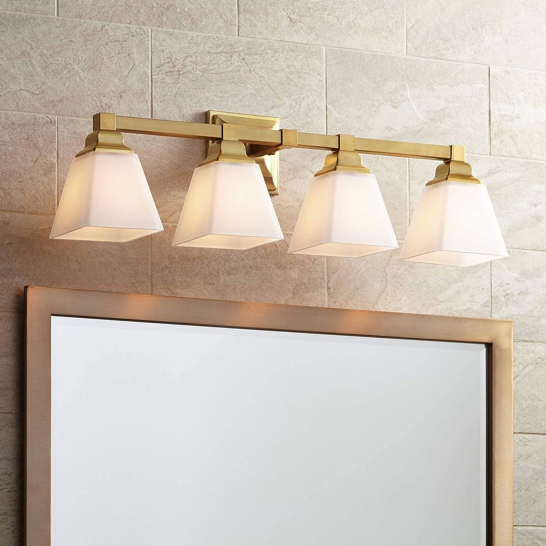 Mencino-Opal Modern Wall Mount Light Warm Brass Gold Metal Hardwired 28