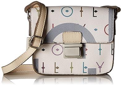 Oilily Jolly Letters Shoulderbag Xshf, Sacs portés épaule femme, (Offwhite), 6x12x17 cm (B x H T)