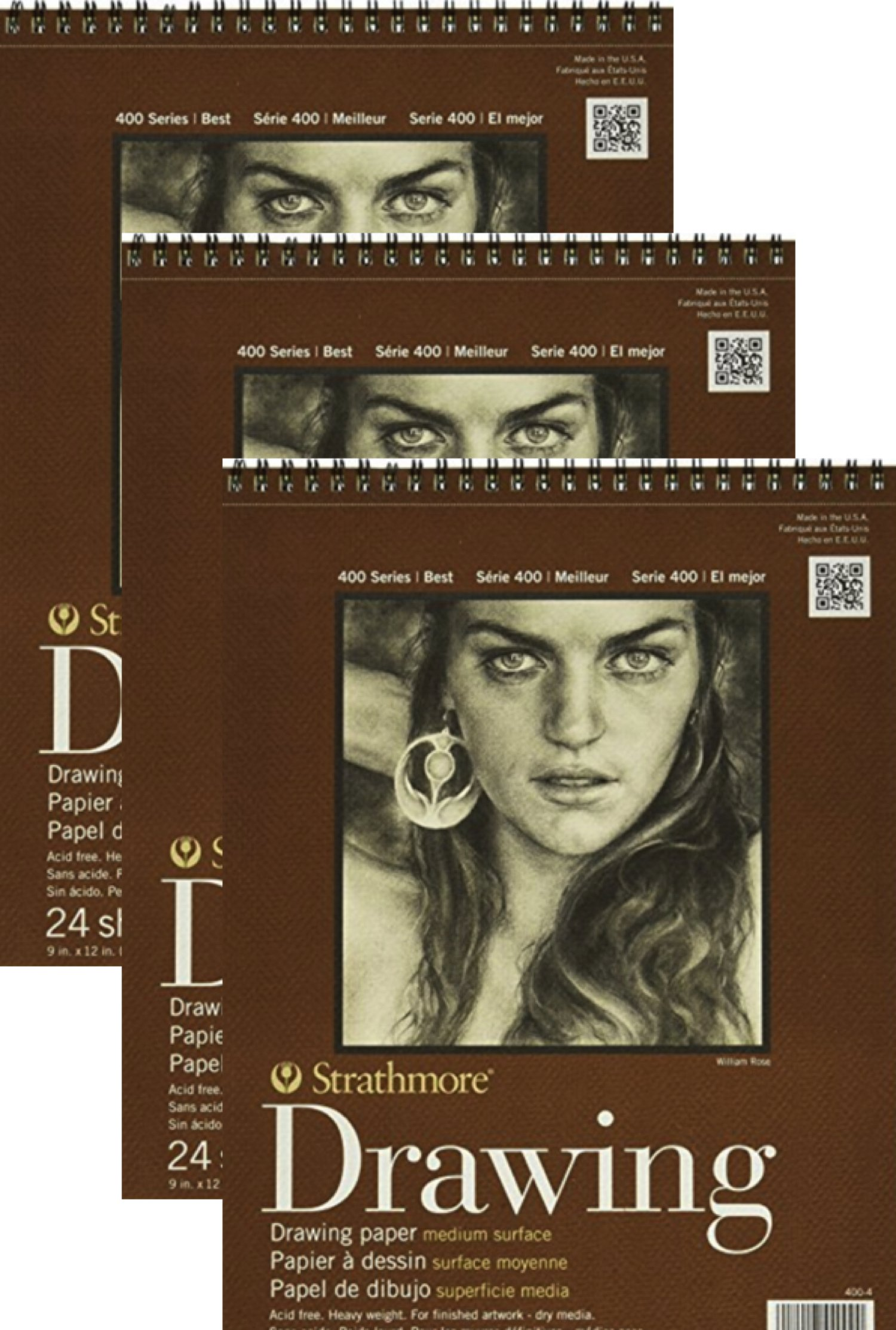 Anahs Market Strathmore - 9 x 12 Drawing Pads - Bundle of 3 - 24 Sheets Each by Anahs Market